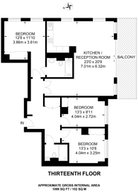 Large floorplan for Brock Street, Euston, NW1