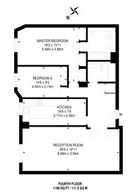 Large floorplan for Wellington Road, St John's Wood, NW8