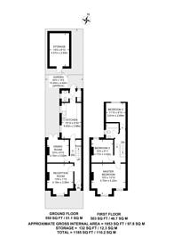 Large floorplan for Hunter Road, Thornton Heath, CR7