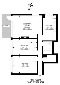 Large floorplan for Anglia House, Limehouse, E14