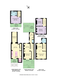Large floorplan for Northumberland Place, Artesian Village, W2