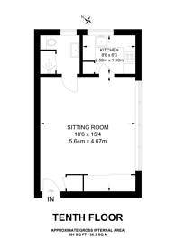 Large floorplan for Hornsey Lane, Highgate, N6