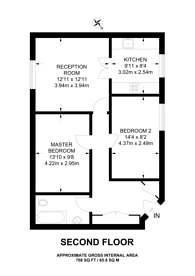 Large floorplan for Uamvar Street, Poplar, E14