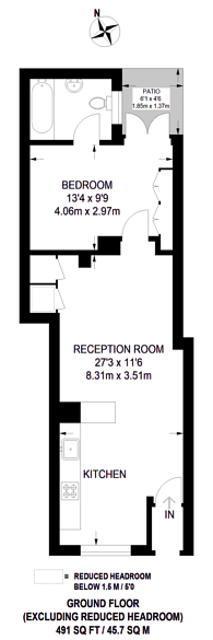 Large floorplan for North End Road, West Kensington, W14