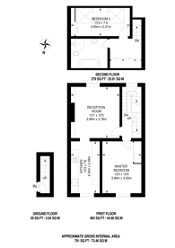 Large floorplan for Prince of Wales Road, Kentish Town, NW5
