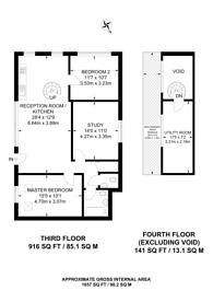 Large floorplan for Acton Lane, Harlesden, NW10
