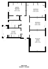 Large floorplan for Charter Way, Finchley, N3