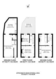 Large floorplan for Virginia Road, Shoreditch, E2