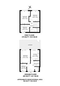 Large floorplan for Burcham Street, Poplar, E14