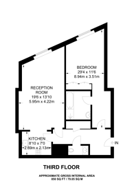 Large floorplan for Berkeley Tower, Canary Wharf, E14