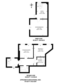Large floorplan for Burrells Wharf, Isle Of Dogs, E14