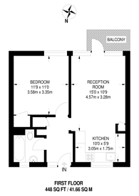 Large floorplan for Buxton Court, Angel, N1