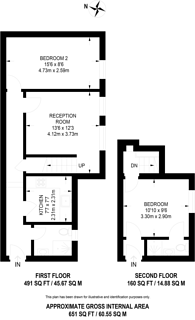 Large floorplan for Craven Terrace, Bayswater, W2