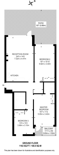 Large floorplan for Stewarts Road, Battersea, SW8