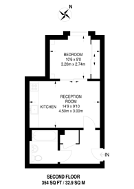 Large floorplan for Swiss Terrace, Swiss Cottage, NW6
