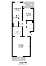 Large floorplan for Imperial Wharf, Sands End, SW6