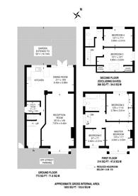 Large floorplan for Elm Park Gardens, Hendon, NW4