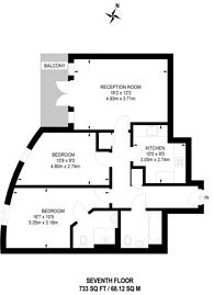 Large floorplan for Oriental Road, Woking, GU22