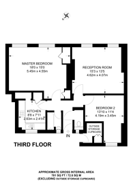 Large floorplan for Portpool Lane, Clerkenwell, EC1N