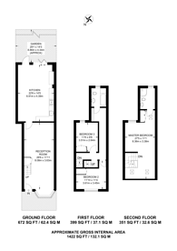 Large floorplan for Willoughby Road, Kingston, KT2