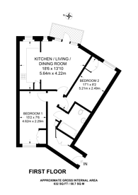 Large floorplan for Brabazon Street, Limehouse, E14