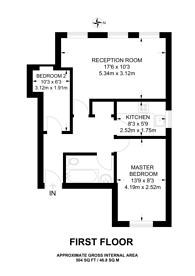 Large floorplan for Inner Park Road, Southfields, SW19