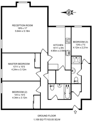 Large floorplan for Sullivan Close, Clapham Junction, SW11
