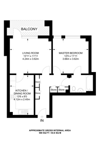 Large floorplan for Hydra House, Poplar, E14