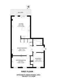 Large floorplan for Kimberley Road, Brondesbury, NW6