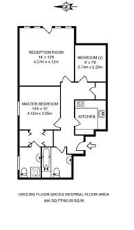 Large floorplan for Manor Gardens, Holloway, N7