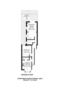 Large floorplan for Harlesden Road, Willesden Green, NW10