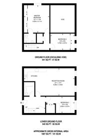Large floorplan for Chequer Street, Clerkenwell, EC1Y