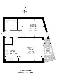 Large floorplan for Camley Street, King's Cross, N1C