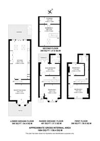 Large floorplan for Effie Place, Fulham Broadway, SW6