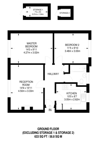 Large floorplan for Wharton Road, Bromley North, BR1