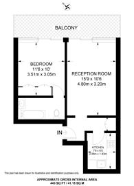 Large floorplan for Westbourne Terrace, Paddington, W2