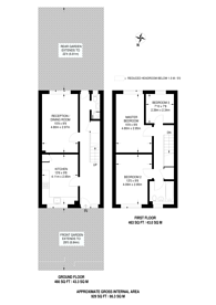 Large floorplan for Moore Walk, Forest Gate, E7