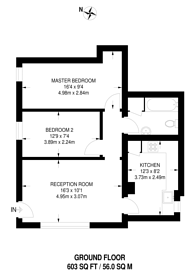 Large floorplan for Cedars Road, Clapham Old Town, SW4
