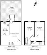 Large floorplan for Levison Way, Archway, N19
