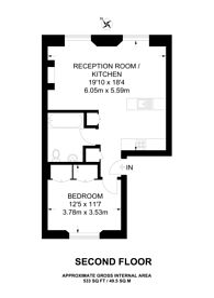 Large floorplan for Harcourt Terrace, Earls Court, SW10