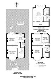 Large floorplan for Priory Gardens, Highgate, N6