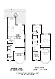Large floorplan for Cecil Road, Acton, W3