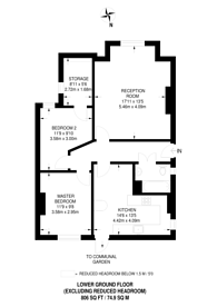 Large floorplan for Cadogan Road, Surbiton, KT6