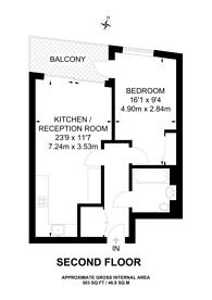 Large floorplan for Buckhold Road, Wandsworth, SW18