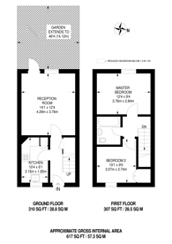 Large floorplan for Willmore End, South Wimbledon, SW19