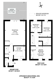 Large floorplan for Kenley Road, Wimbledon, SW19