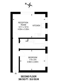 Large floorplan for Brewster Gardens, North Kensington, W10