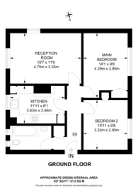 Large floorplan for Valley Road, Streatham Common, SW16