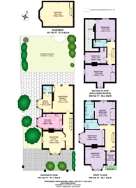 Large floorplan for Hurlingham Gardens, Hurlingham, SW6