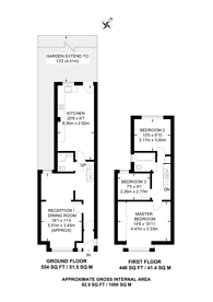 Large floorplan for Yewfield Road, Willesden, NW10